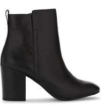 Aldo Quria Leather Heeled Ankle Boots Black Leather