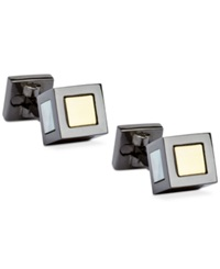 Ike Behar Detailed Center Block Cufflinks Multi