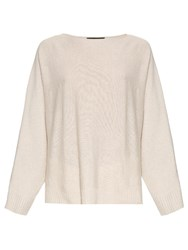 The Row Minola Loose Fit Cashmere Sweater Light Beige