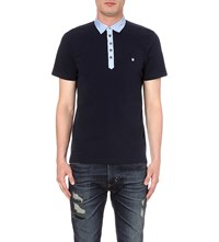 Diesel T Angier Cotton Polo Shirt Navy
