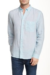 7 For All Mankind Oxford Linen Shirt Blue