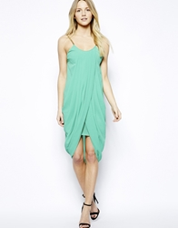 Jovonnista Anja Drape Dress With Chain Straps Green