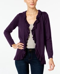 Inc International Concepts Petite Ruffled Cardigan Only At Macy's Port