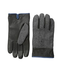 Original Penguin Woven Herringbone Leather Glove Black Extreme Cold Weather Gloves