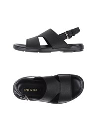 Prada Footwear Sandals Men Black