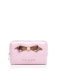 Ted Baker Cosmetic Case Amelia Slim Bow Baby Pink