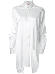 Manning Cartell Open Back Asymmetric Shirt White