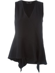 Proenza Schouler Draped Tank Top Black