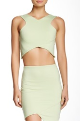 Donna Mizani V Strap Crop Top Green