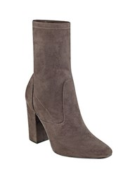 Ivanka Trump Itlynna Suede Booties Dark Grey