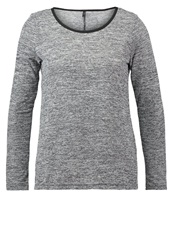 Only Onlalbertha Long Sleeved Top Light Grey Mottled Light Grey