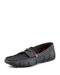 Swims Rubber Penny Loafer Black