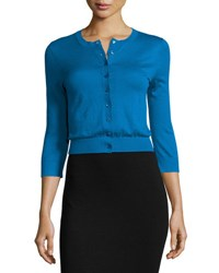 Michael Kors Featherweight Cashmere Cardigan Turquoise