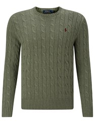 Polo Ralph Lauren Cable Knit Crew Neck Jumper Lovette Heather