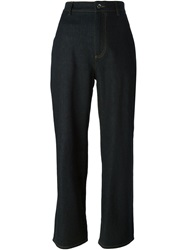 Dolce And Gabbana Wide Leg Jeans Blue