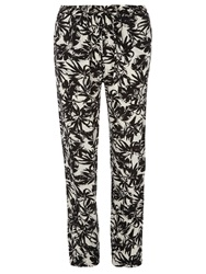 Dorothy Perkins Tall Tropical Joggers Black