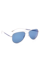 Oliver Peoples West Piedra Sunglasses Silver
