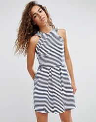D.Ra Rosalie Striped Skater Dress Parisienne Stripe Blue