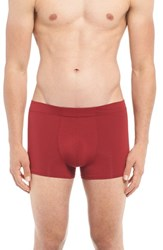 Naked Men's 'Luxury' Micromodal Trunks Jungle Red
