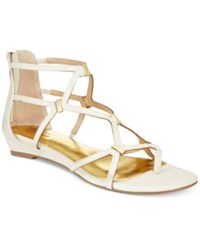 Thalia Sodi Pamella Strappy Demi Wedge Sandals Only At Macy's Women's Shoes White Lizard