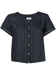 Frame Denim 'Le Victorian' Cropped Shirt Black