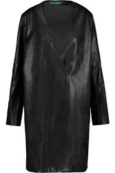 Emilia Wickstead H Faux Leather Coat Black