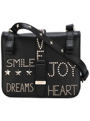 Red Valentino Small Studded Crossbody Bag Black