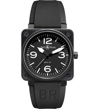 Bell And Ross Br0192 10Th Ce Ceramic And Rubber Watch