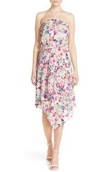 Women's Charlie Jade Print Strapless Silk Midi Dress