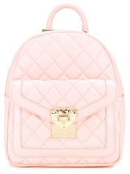 Love Moschino Quilted Backpack Pink Purple