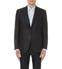 Brioni Wool And Silk Blend Jacket Navy
