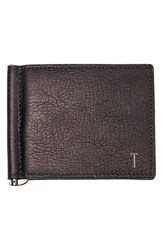 Men's Cathy's Concepts Personalized Leather Wallet And Money Clip Metallic Brown T