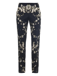 Givenchy Floral Print Cotton Trousers