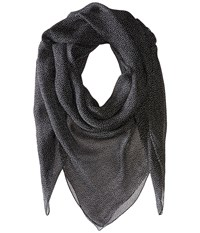 The Kooples Seersucker Polka Dot Scarf Black Scarves