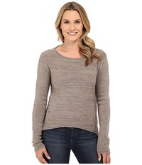 Jag Jeans Boat Neck Drop Tail Sweater Taupe Heather Women's Sweater