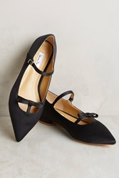 Anthropologie Vanessa Tao Pointed Bow Flats Black