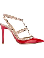 Valentino Garavani Studded Pumps Red
