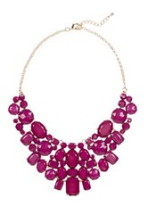 Eye Candy Los Angeles June Statement Bib Necklace Red