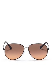 Michael Kors 'Kendall I' Metal Aviator Sunglasses Black