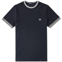 Fred Perry Tipped Ringer Tee Blue