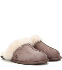 Ugg Scuffette Ii Shearling Lined Suede Slippers Brown
