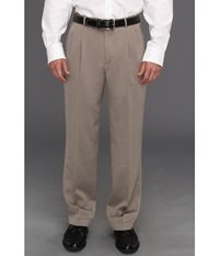 Perry Ellis Classic Fit Double Pleat Micro Melange Pant Simply Taupe Men's Dress Pants