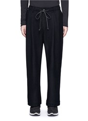 Attachment Wide Leg Wool Cashmere Blend Pants Black
