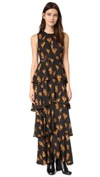 A.L.C. Arias Dress Black Camel Green