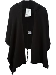 Lost And Found Rooms Hooded Poncho Black