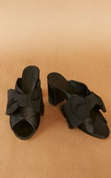 Trademark Madelaine Mule With Bow Black