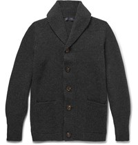 Thom Sweeney Shawl Collar Cashmere Cardigan Gray