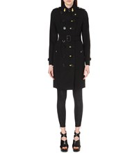Burberry Sandringham Military Braid Trench Coat Black