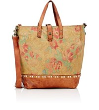 Campomaggi Women's Studded Canvas Tote Brown