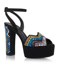 Giuseppe Zanotti Jewel Zigzag Sandals Female Black